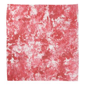 Pañuelo rojo de la pintura de la salpicadura de
