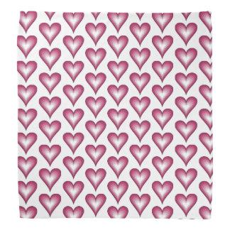 pañuelo rosado de moda de los corazones