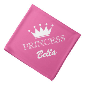 Pañuelo rosado del perro de la corona de la bandana