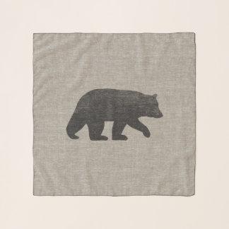 Pañuelo Silueta del oso negro