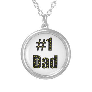 Papá #1 collar plateado