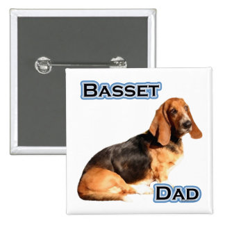 Papá 4 de Basset Hound - botón