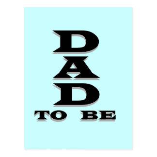 Papá a ser camisetas y regalos postal
