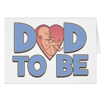 Papá a ser de maternidad tarjeta de felicitación