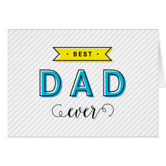 Papá amarillo azul colorido moderno de la tarjeta de felicitación