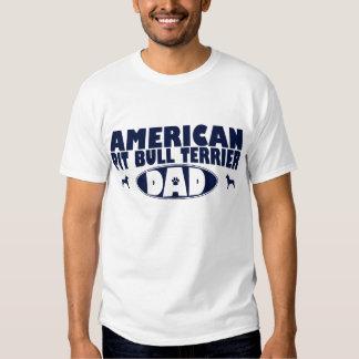 Papá americano de Terrier de pitbull Camiseta