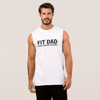 Papá apto camiseta sin mangas