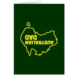 Papá australiano - chiste al revés tarjeta de felicitación