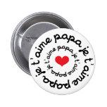 Papá/DAD/Daddy/Vati/Papá Chapa Redonda De 5 Cm