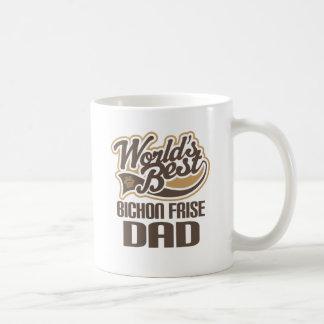Papá de Bichon Frise (mundos mejores) Taza De Café
