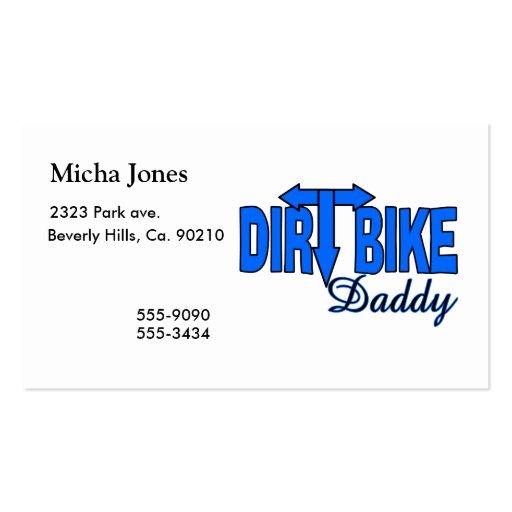 Papá de la bici de la suciedad tarjeta personal