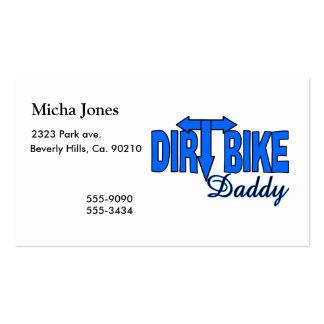 Papá de la bici de la suciedad tarjetas de visita