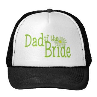Papá de la boda de la margarita de la novia gorras de camionero