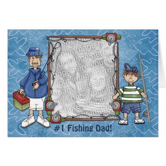 Papá de la pesca #1 tarjeta de felicitación