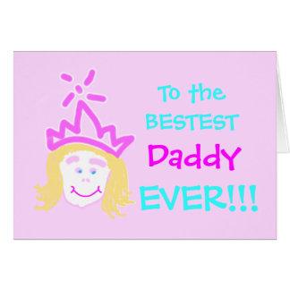 Papá de la tarjeta y del verso del día de padres d