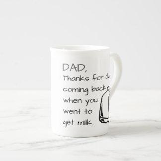Papá de las gracias - taza del día de padre (gris)