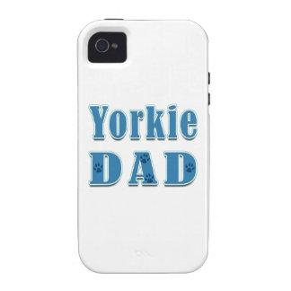 Papá de Yorkie iPhone 4 Funda