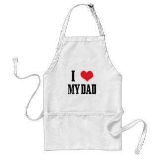 papá del amor delantal
