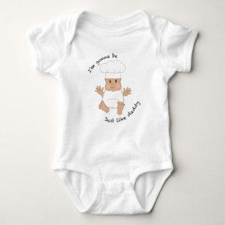 Papá del cocinero body para bebé