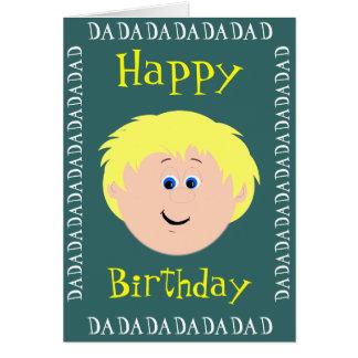 Papá del cumpleaños (hijo) tarjetón