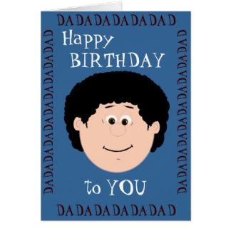 Papá del cumpleaños (hijo) tarjeta de felicitación