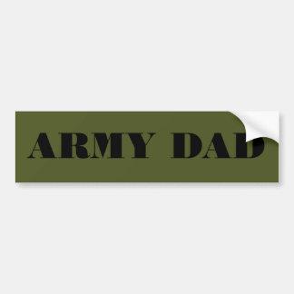 Papá del ejército de la pegatina para el parachoqu pegatina para coche