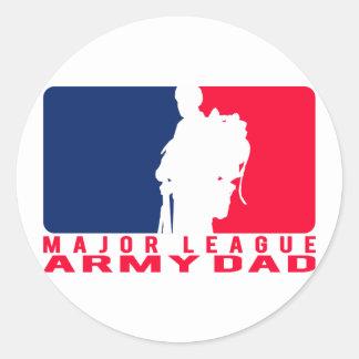 Papá del ejército de la primera división etiqueta redonda