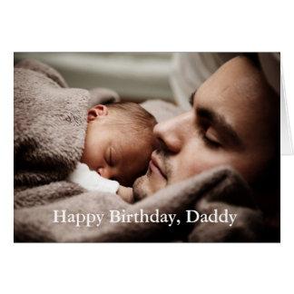 Papá del feliz cumpleaños de la foto - tarjeta de