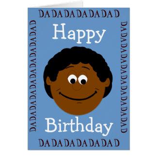 Papá del feliz cumpleaños (hijo) tarjeton