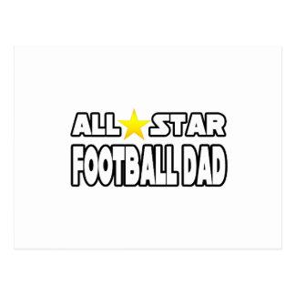 Papá del fútbol de All Star Tarjeta Postal