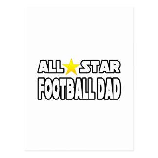 Papá del fútbol de All Star Tarjetas Postales