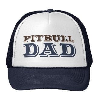 Papá del pitbull gorros bordados