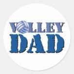 Papá del voleibol pegatina redonda