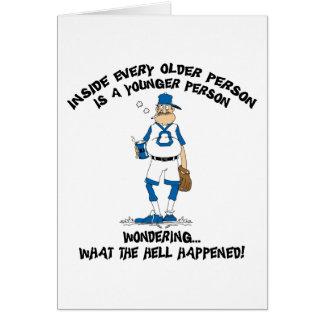 Papá divertido del béisbol del día de padre tarjeta de felicitación