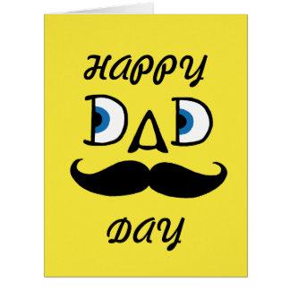Papá - el día de padre feliz tarjeta de felicitación grande