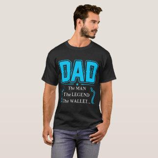 Papá el hombre la camiseta de la cartera de la