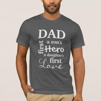 Papá el primer de un hijo héroe el primer amor de camiseta