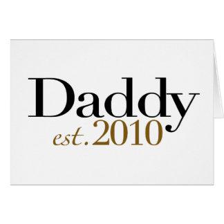 Papá Est 2010 Tarjeta De Felicitación