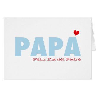 Papá Feliz Dia del Padre Tarjeta De Felicitación