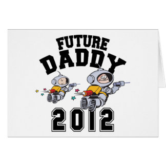 Papá futuro 2012 - padre a ser tarjeta de felicitación