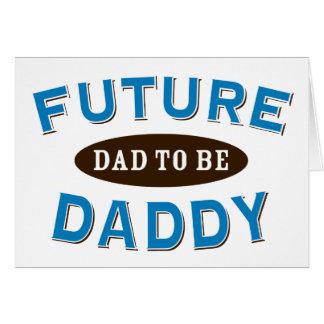 Papá futuro - papá a ser tarjetón