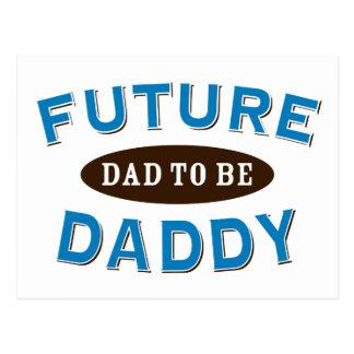 Papá futuro - papá a ser tarjeta postal