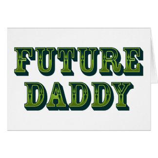 Papá futuro tarjetón