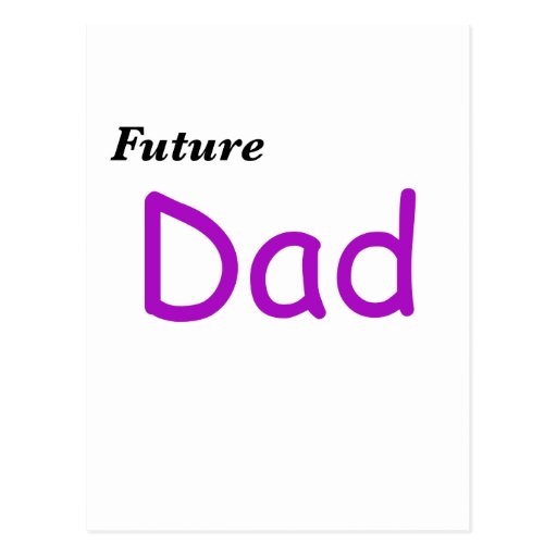 Papá futuro tarjeta postal