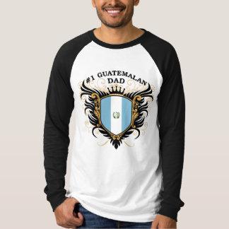 Papá guatemalteco del número uno camiseta