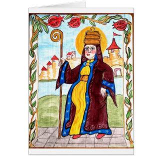 Papa Joan - papa medieval del santo de la mujer Tarjeta De Felicitación