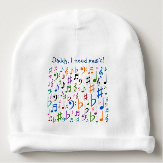 ¡Papá, necesito música! Gorrito Para Bebe