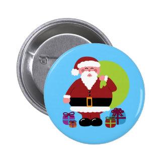 Papá Noel con los presentes Pin