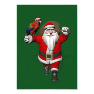 Papá Noel dulce ama loros de los Macaws Invitación 12,7 X 17,8 Cm
