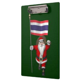 Papá Noel dulce con la bandera de Tailandia